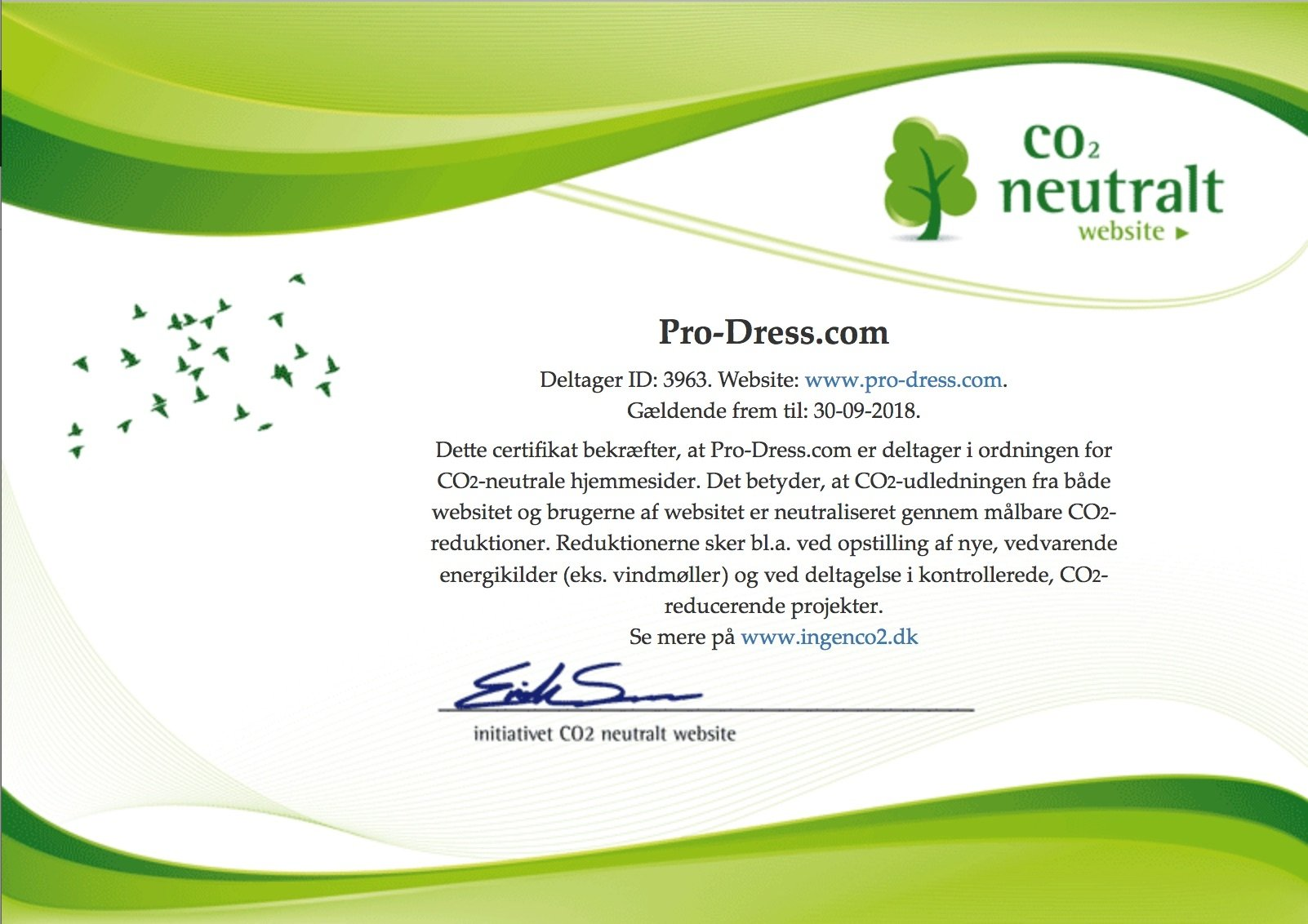 co2 neutralt certifikat
