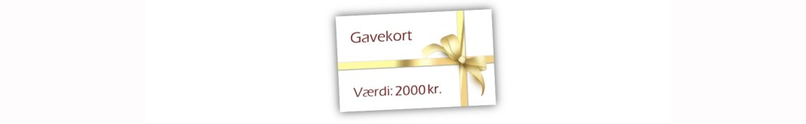 Gavekort 2000,- kr.