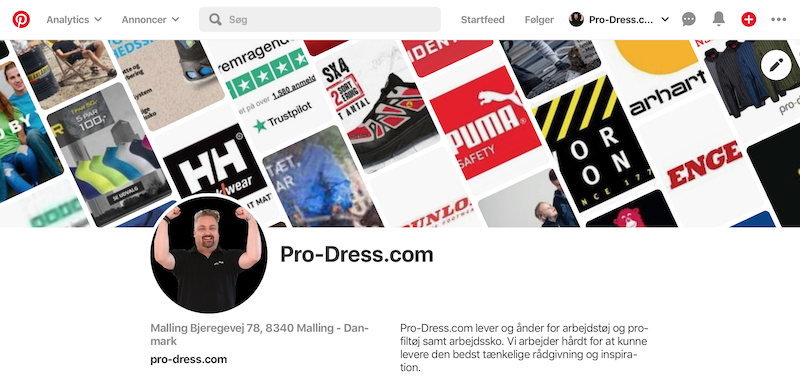 Pinterest hos Pro-Dress.com