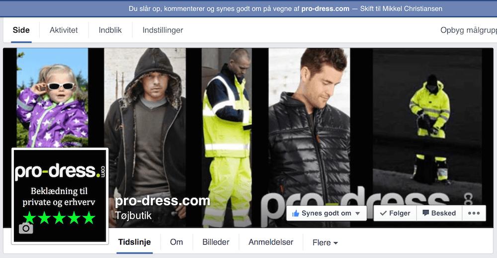 pro-dress facebook side