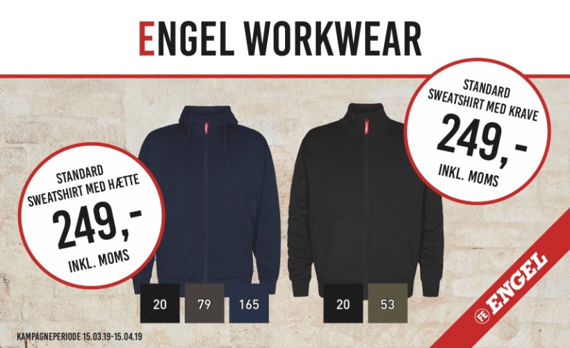 F. Engel Sweatshirt med hætte
