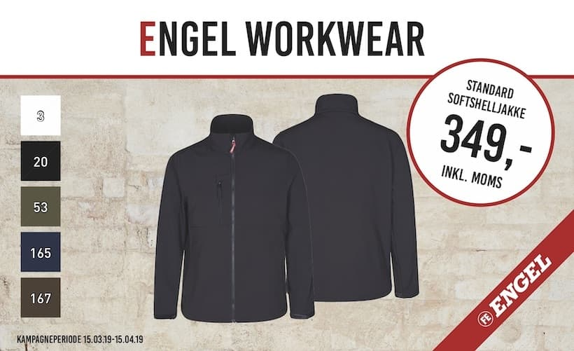 Engel Workwear Standard Softshelljakke