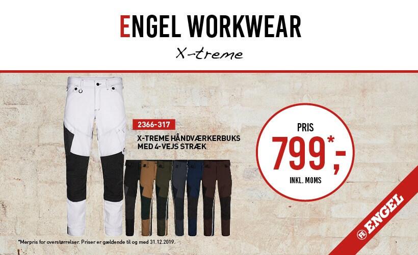 F. Engel X-treme Stræk Håndværkerbukser