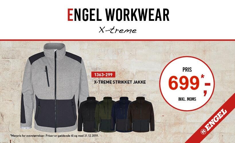 F. Engel X-treme strikket softshelljakke