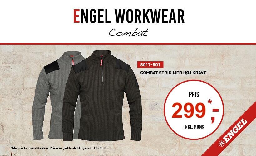 F. Engel Combat Strik m. Høj Krave
