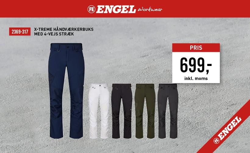 F. Engel X-treme Håndværkerbukser i stretch-materiale