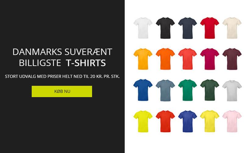 Danmarks billigste T-shirts