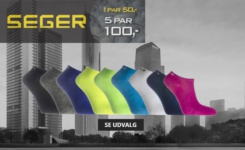 Seger Ankelsokker - 5 for 100,-